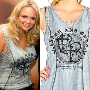 Miranda Lambert Crash & Burn Embellished Tank Top